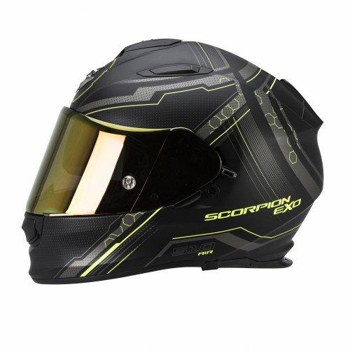 Scorpion Helm, Matt Schwarz/Gelb, S