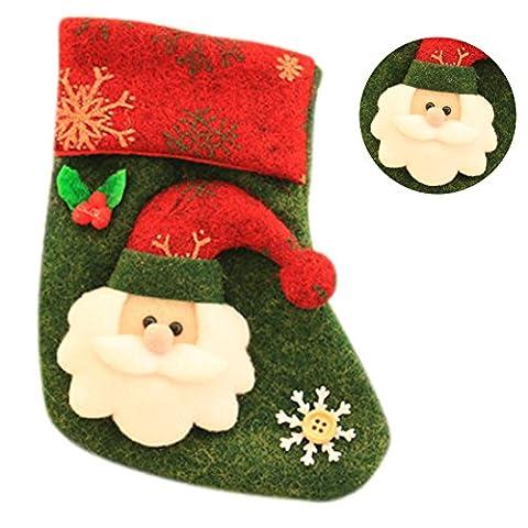 Set Von Vier Mini Weihnachtsstrümpfen, ANGTUO Christbaumschmuck Weihnachtsmann (Süßigkeiten, Christbaumschmuck)