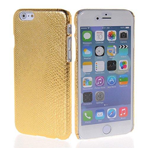 MOONCASE Hard Shell Cover Housse Coque Etui Case Pour Apple iPhone 6 Plus Blanc Doré 02