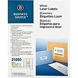 Business Source Mailing Label–2,5cm Breite x 6,7cm Länge–Permanent–3000/Pack–Weiß