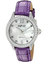 August Steiner AS8188PU - Reloj de  cuarzo para mujeres, color morado