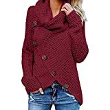 Hanomes Damen pullover, Damen Button Langarm Pullover Sweatshirt Pullover Tops Bluse Shirt We/M