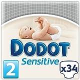 Dodot Sensitive - Pañales para bebé, talla 2, 34 unidades