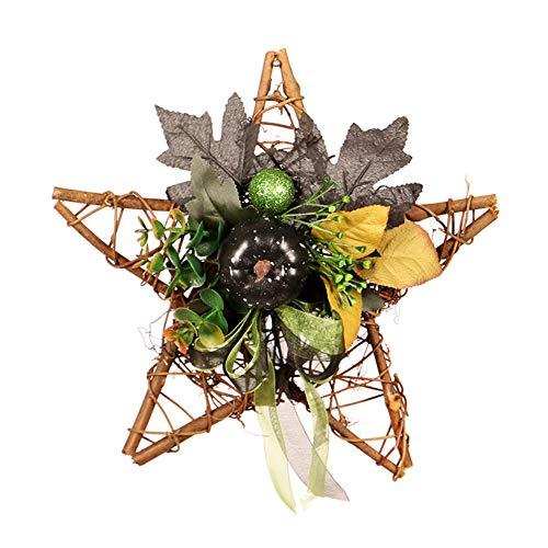 ängende Girlande Stern Holzrahmen mit Künstlichen Blumen Party Haustür Ornamente Requisiten für Home Office Shops Schule ()