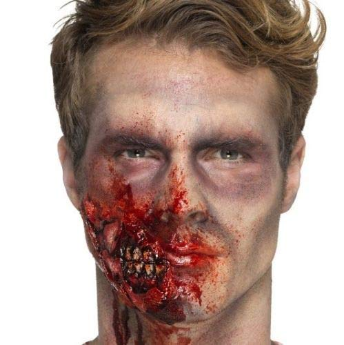 B-Creative Halloween Horror Zombie Kiefer Wunde ausgefallene Kleid Make up Prothetik (Grave Reaper Kostüm)