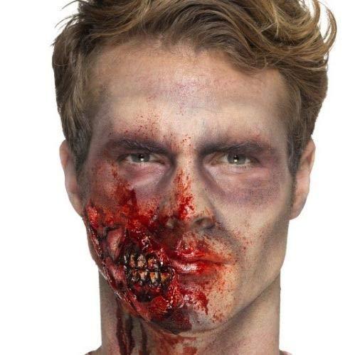 B-Creative Halloween Horror Zombie Kiefer Wunde ausgefallene Kleid Make up ()