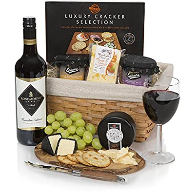 Wine, Cheese and Pate Hamper - Luxury Christmas Gift Hampers & Food Gifts Collection - 2017 Xmas Hamper With Free UK Delivery by Clearwater Hampers