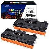 GPC kompatibla tonerkassetter ersättning för Samsung MLT D116L D116S att använda med Xpress SL-M2835DW M2825ND M2825DW M2885FW M2675 M2675FN M2875FD M2625 M2626 M2676 M2825 (svart, 2-pack)