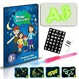 Planche à dessin éducative Magic Fluorescent,dessin léger,amusement et développement,Planche à dessin portative Hi-Tech,pour enfants,dessiner,Doodle (A3 Taille:30×2×43cm)...