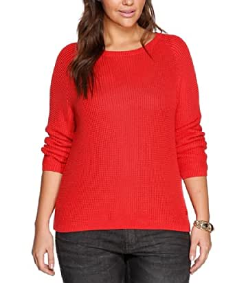 TRIANGLE Damen Pullover 18.312.61.3479, Gr. 54, Rot (3250)