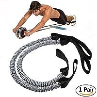 Slimerence Cuerda de tracción para rueda de rodillo de cintura, abdominal, adelgazamiento, equipo de fitness, 1 par