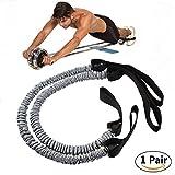 Slimerence Cuerda de tracción para rueda de rodillo de cintura, abdominal, adelgazamiento, equipo...