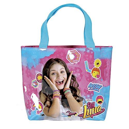 Perletti Shoppertasche für Mädchen mit Disney Soy Luna - Tote Tasche mit Reißverschluss - Fuchsia Schultertasche für Reisen und Shopping - 25x33x8 cm