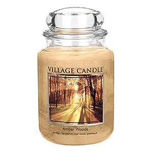 Village Candle 106326829 Amber Woods Grande Vaso, Beige, 9.8 x 9.5 x 11.9 cm