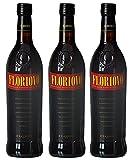 Floriovo Corvo Liqueur Apéritif à Base de Vin Marsala 75 cl - Lot de 3