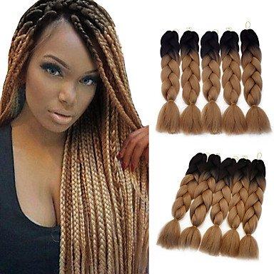 MZP Box Zöpfe Jumbo Haarverlängerungen Kanekalon Haar Borten , (Perücke Afro Blonde Erwachsene Für Jumbo)