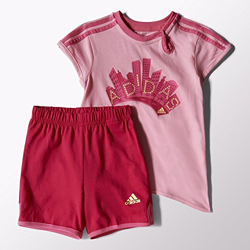 Adidas Enfants Fille Infants Girls Summer Set Rose light pink/semi solar pink