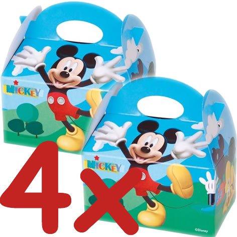 4 Geschenkboxen aus Pappe * MICKEY MOUSE CLUBHOUSE * von Disney // CONO // Party Kinder Mottoparty Kindergeburtstag Mitgebsel Geschenktüten Tüten Partyboxen Micky Maus (Disney Mickey Mouse Clubhouse)
