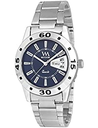 Watch Me Day and Date Analogue Blue Dial Silver Stainless Steel Strap Women's Quartz (DDWM-009-Bua)
