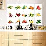 FAMILIZO Aceite De Cocina A Prueba De Etiquetas Engomadas Desprendibles De La Pared Art Decoración Limpio (Multicolor)