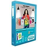 ELBA 100200140 Kunststoff-Sammelbox polyvision 8er Pack 4 cm breit DIN A4 blau mit Drucknopf-Verschluss ideal für Büro Schule und die mobile Organisation