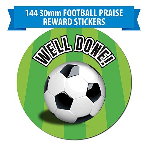 144-x-football-themed-reward-stickers-30mm-well-done-labels-schools-teachers-parents-clubs