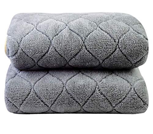 Authda Kuschelheizdecke Wärmeunterbett Abschaltautomatik Wasserdicht Flauschig Wärmedecke Heizdecken fürs Bett Timer Doppelbett Fernbedienung (180X80cm, Gray)