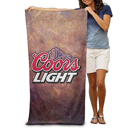 Xcvgcxcvasda popular american coors light logo coperta da spiaggia per nuoto sport campeggio picnic grande asciugamano da viaggio in microfibra 78,7 x 129,5 cm design unico