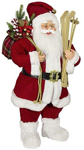 Weihnachtsmann Santa Nikolaus Oliver mit schönem Gesicht und vielen Details / Größe ca.80cm/ roter Mantel, roter Mütze, rote Hose, Fellstiefel - Trendyshop365