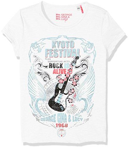 GEORGE GINA & LUCY GIRLS Mädchen 50510 T-Shirt, Weiß (White 10), 140