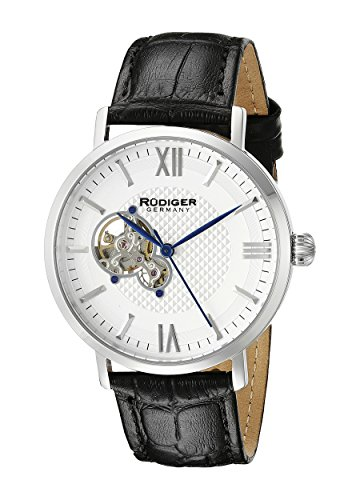 Rudiger Men's R3500-04-001 Stuttgart Analog Display Automatic Self Wind Black Watch