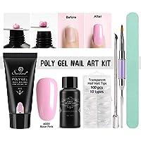 Molie poli gel Nail Builder Gel Kit pegamento uñas herramienta clavo conjunto especial rápido rosa extendido pegamento cristal pegamento sin soporte de papel