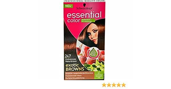 Schwarzkopf Essential Color Haarfarbe 247 Kokosnuss Naturbraun ...