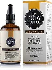 Olio di Argan puro al 100% - Ricco di vitamina E e antiossidanti - Adatto per capelli, pelle, corpo e unghie.