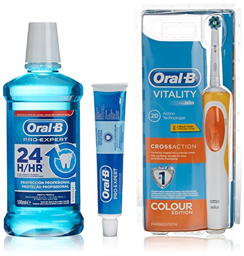 Oral-B Spazzolino Elettrico + Dentifrico Pro Expert Vitality Cross Action - 1 Pack