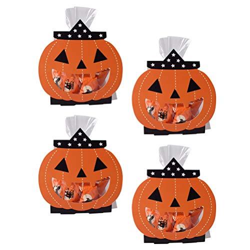 Amosfun 5 Stücke Halloween Pralinenschachtel Kits Party Candy Favor Boxen Kreative Kürbis Geisterförmige Fall Cookie Aufbewahrungsbox für Halloween Party