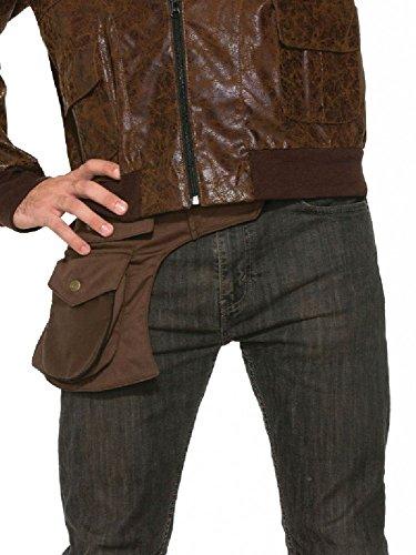 shoperama Braune Hüft-Tasche für Steampunk Kostüme Hip Bag Herren Damen 40er Jahre