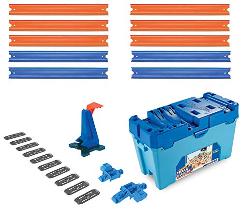 Hot Wheels Playset Multi Loop Track Builder con 3 Metri di Pista per Creare Percorsi Interessanti, Include Connettori, Un Lanciatore, Un Veicolo ed 1 Box, FLK90