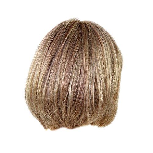 Homyl Damenperücke kurz Bob Echthaar Perücke Natürlich gerade menschliche haare Perücke (Hellbraun)