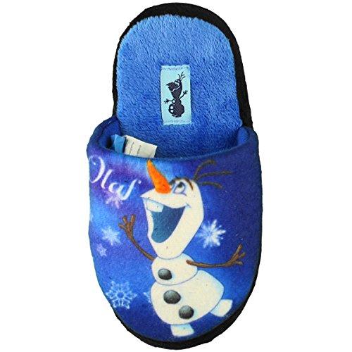 Disney Frozen Die Eiskönigin Olaf Hausschuhe für Kinder, ddunkelblau, Gr. 25/26 - 31/32 Dunkelblau