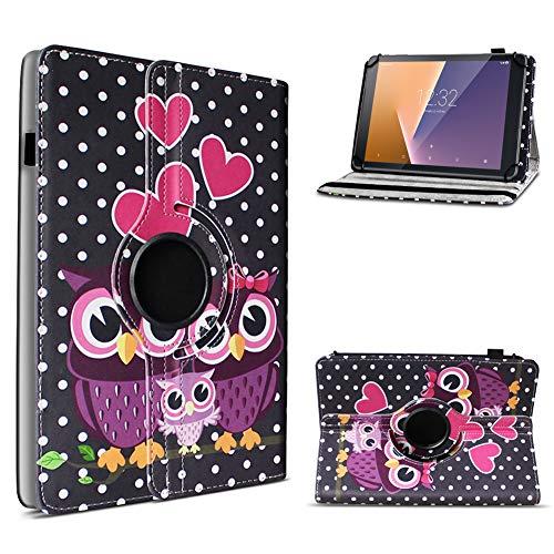 UC-Express Vodafone Tab Prime 6/7 robuste Tablet Schutz Hülle aus hochwertigem Kunstleder Tasche mit Standfunktion 360° drehbar Universal Cover Case kombiniert Schutz und Design, Farben:Motiv 3