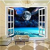 Décoration Murale Papel De Parede 3D Paisagem Moderne Classique Ciel Étoilé Terre Photo Murale Papier Peint Hôtel Salon Étude Toile De Fond 3D Papier Peint-250 X 200CM
