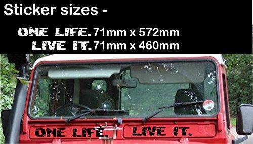 Matt Schwarz Land Rover Defender Vent Panel Entlüftungslochplatte One Life Live It Aufkleber Vinyl Terra Nomade