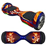 OYW Balance Board Hover Skins Decal,Protective Vinyl Skin Stickers Wrap for 6.5 inches Self Balancing Hoverboard Scooter Leray Sogo Glyro Swagway X1 Decals Cover - Snowflake Flower Fire
