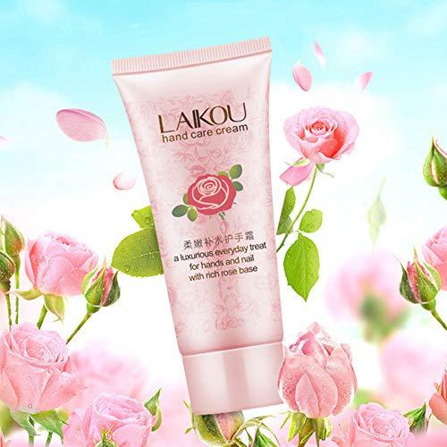 Crema de manos clifcragrocl, crema de manos nutritiva con base de rosas, crema de manos, crema hidratante y humectante para manos 60g