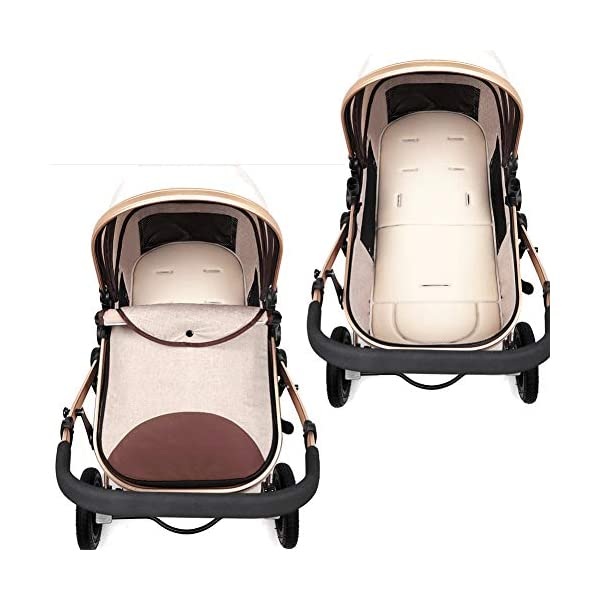 YSH Travel System Baby Stroller Pushchair High View Portable Baby Cart Suitable For Children From 0 To 36 Months /20KG,D-2 YSH Specifications - Stroller for children aged 0-3, standard load capacity 25 kg, maximum load capacity 50 kg, unfolded size 60 x 57 x 100 cm, folding size 80 x 50 x 62cm, net weight 8 kg Function - The stroller can take out the sleeping basket, fold easily, be smaller and easy to carry; adjustable backrest angle can sit or lie flat Features - Stroller can be folded quickly, capacity up to 50 kg / 110 lbs; with shock absorber system for smoother ride, adjustable backrest, comfortable ride, windproof, waterproof, all seasons 8