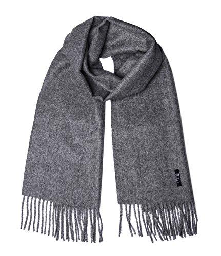 Mitos Natural Elegance - Grauer Schal feine 100% Alpaka Wolle, Alpakaschal, Winterschal, Wollschal unisex (Alpaka-wolle Herren-pullover)