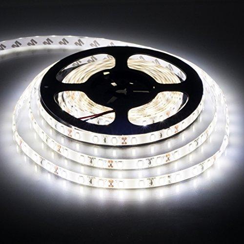 BTF-LIGHTING 16.4ft blanco natural SMD5630 tira de led 300LEDs DC12V IP65 impermeable 25Lm/LED, más brillante que 5050