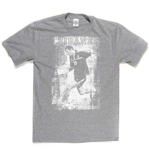 Zinedine Zidane Zizou French Footballer Real Madrid Footy Tee T-shirt Ash Grey