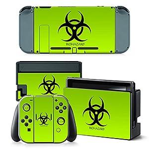 Nintendo Switch Skin Design Foils Aufkleber Schutzfolie Set – Biohazard Motiv